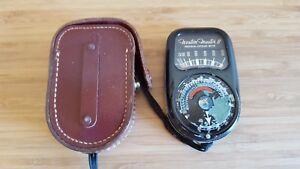 VTG Weston Master II Universal Exposure Meter, Model 735 w/ Leather Case