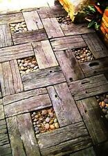 Polyurethane  Mold Walkway Concrete Stepping Paving Mould Stone Garden Rock