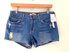 NWT Rich & Skinny Sexy Distressed Winter Lake Blue Denim Jean Shorts 27 $135