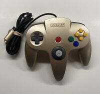 Authentic OEM Nintendo 64 Controller Gold N64 8/10 Stick!