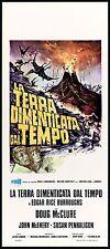 LA TERRA DIMENTICATA DAL TEMPO (1° TIPO) LOCANDINA CINEMA 1975 PLAYBILL POSTER