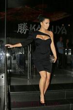 Kim Kardashian Mini Taffeta One Shoulder Little Black Dresses