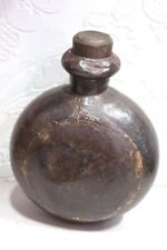 Iron Water Pot Vintage Antique Old Indian Rare Collectible PS-96