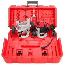 Milwaukee Router Kit Plunge Base BodyGrip Adjustable Pointer Corded Red