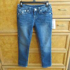 Women's/ girls True Religion Capri blue jeans size 26 brand new NWT $189