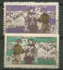 Nord Vietnam Scott #O36-37 1966 Post Landhaus