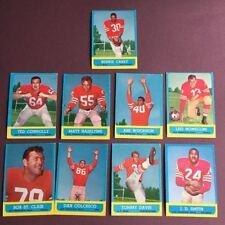 Topps 1963 Lot Cartes San Francisco 49ers NFL Football Américain