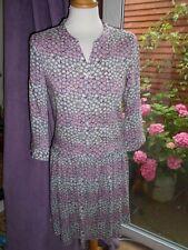 Celia Birtwell for Uniqlo Pink Tiny Daisy Print Tea Dress Low Waisted Ex Small