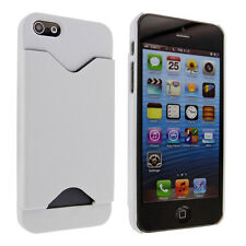 White Back Cover Case with Credit Card Holder for iPhone 5 / 5S