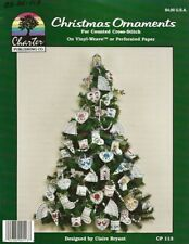 Vintage 1989 Christmas Ornaments Cross Stitch Leaflet - Charter Publishing Co.