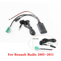 For 2005-2011 Renault Radio Bluetooth Audio Adapter AUX Cable Handsfree Micphone