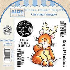 CHRISTMAS Mouse Unmounted Rubber Stamps Set MAKEY BAKEY MICE MBM-C-SNUG-EZ New