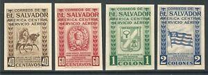 El Salvador: 4 different stamps air service Trimmed from Souvenir sheet... ES03/