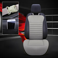 PU Leather Buckwheat Hull Car Front Seat Cover Cushion Surround Breathable GY B4