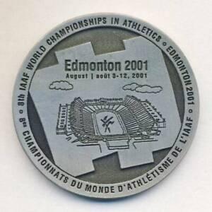 2001 WORLD Championships in ATHLETICS participant MEDAL Edmonton Canada