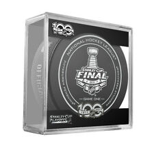 2017 NHL Penguins v Predators Stanley Cup Final Game 1 On-Ice Hockey Puck W/Cube