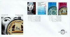 1978 NEDERLAND SEMI-POSTAL SCHUURMAN+DELFT PLATE 4 STAMP SET OFFICIAL COVER FDC
