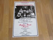 BRIGHTON Beach Memoirs Multi Signed by Cast Original ALDWYCH Theatre Poster