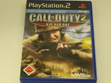 !!! PLAYSTATION PS2 SPIEL Call of Duty 2 Big Red One USK18 TOP !!!