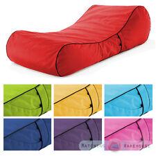 Pink Splash Proof Bean Bag Sun Lounger Chaise Longue Garden Furniture Outdoor