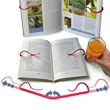Hands Free Book Holder Folding Stand Holds Pages Open Clip Travel Reading Tool