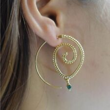 Retro Women Circles Round Spiral Tribal Hoop Earrings Ear Stud Piercing Jewelry