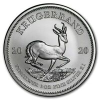 Pièce Argent Afrique du Sud 1 once Krugerrand 2020 1 Once 1 Oz Silver