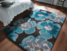 Shaggy/Flokati Floral Hand-Tufted Rugs
