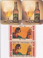4 oude bierviltjes  GINDER - ALE