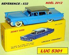 LINCOLN PREMIERE BLEUE #532 SÉRIE SPÉCIALE NOËL 2012 DINKY TOYS / ATLAS