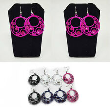 12Pairs Wholesale Women Earrings Lot Metal Hoops Hook Drop Dangle Jewelry Gift