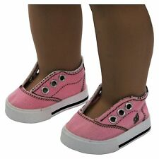 "6 PAIR DOLL SHOES FOR 18"" American Girl dolls -Pink Sneaker WHOLESALE LOT"