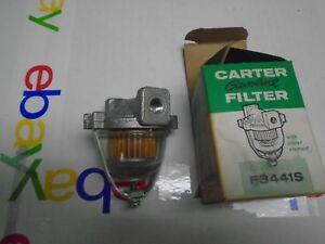 """Vintage Carter Fuel Filter F3441s 1/8"""" Fitting 40s 50s cad,olds buick"""