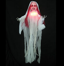 """Red Girl Ghost Creepy Doll Lighted Haunted House Halloween Party Prop 41"""""""