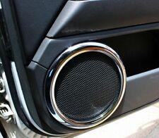 4PCS Chrome Interior Speaker Sound cover trim ring For jeep Patriot 2007-2017