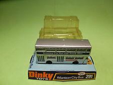 DINKY TOYS 291 ATLANTEAN CITY BUS - TRUCK HIRE - RARE SELTEN - GOOD IN BLISTER