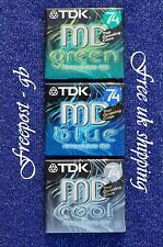 3 x TOP QUALITY TDK MD-C74 BLANK AUDIO MINIDISCS - 74 MINUTES - NEW IN CASES