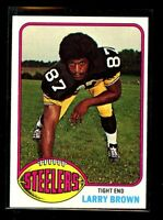 1976 TOPPS #381 LARRY BROWN STEELERS NM+ D023703
