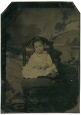 Photo Ferrotype Portrait Enfant Vers 1870