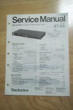 Technics Service Manual for the ST-G5 Tuner