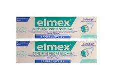 2x Elmex sensitive professional sanftes + natürliches Weiss Zahnpasta Zahncreme