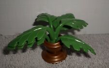 Fisher Price Loving Family Dollhouse Potted Green Plant Gold Pot