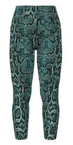 NWT HTF Lularoe TC Tall Curvy Teal Reptile Snakeskin New Print Leggings NWT