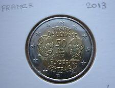 2 EURO  commémorative FRANCE  2013-PIECE  SUPERBE-Traité de l'Elysée-France .