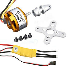 Brushless Motor+ESC 30A Speed Controller+Mount for RC Airplane Helicopter 2016