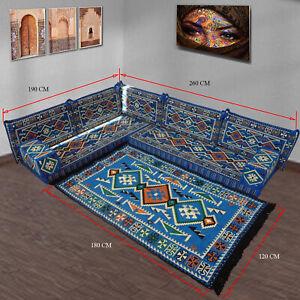 Majlis floor seating,corner sofa set,floor couch,kilim rug,carpet,Turkis kilim