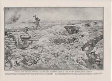 "1916 WWI Print BRITISH INFANTRY LET LOOSE UPON COMBLES,THE SOMME Size:12"" X 8½"""