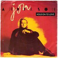 "JON ANDERSON Hold on to Love 7"" Single PROMO/Demo copy – White Label"