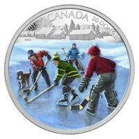2014 Canada 1 oz Colorized Proof $20 Fine Silver Coin - Pond Hockey,  NO TAX