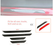 4x Car Real Carbon Fiber Front+Rear Door Sill Pedal Cover Panel Protector Strip